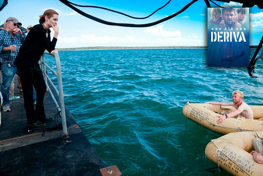 """2014 se filmó """"Against the Sun"""" en inlgés ,o """"A la deriva"""" primer producción de Angelina Jolie"""
