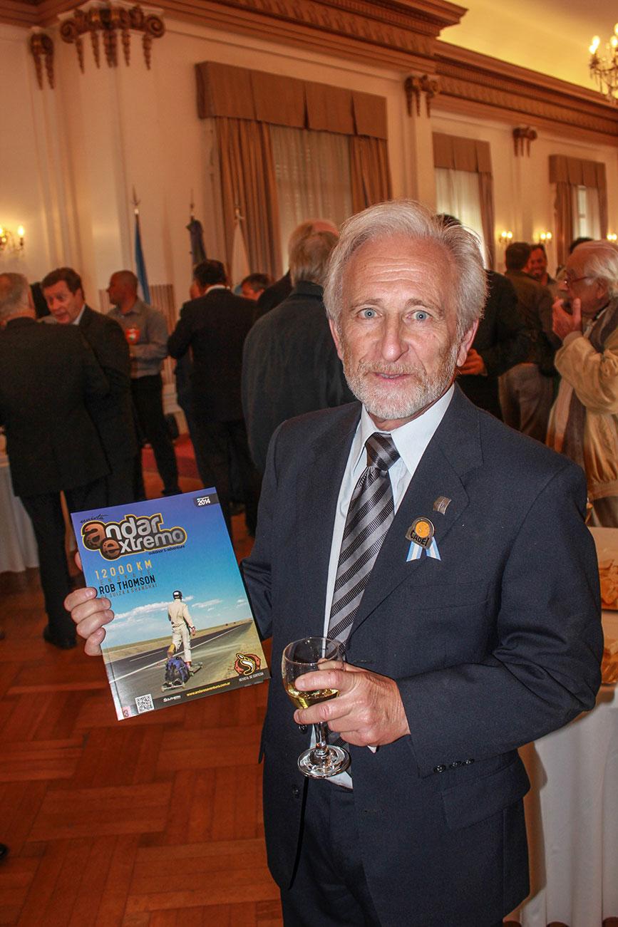 Alfredo Barragán en el homenaje de los 30 años