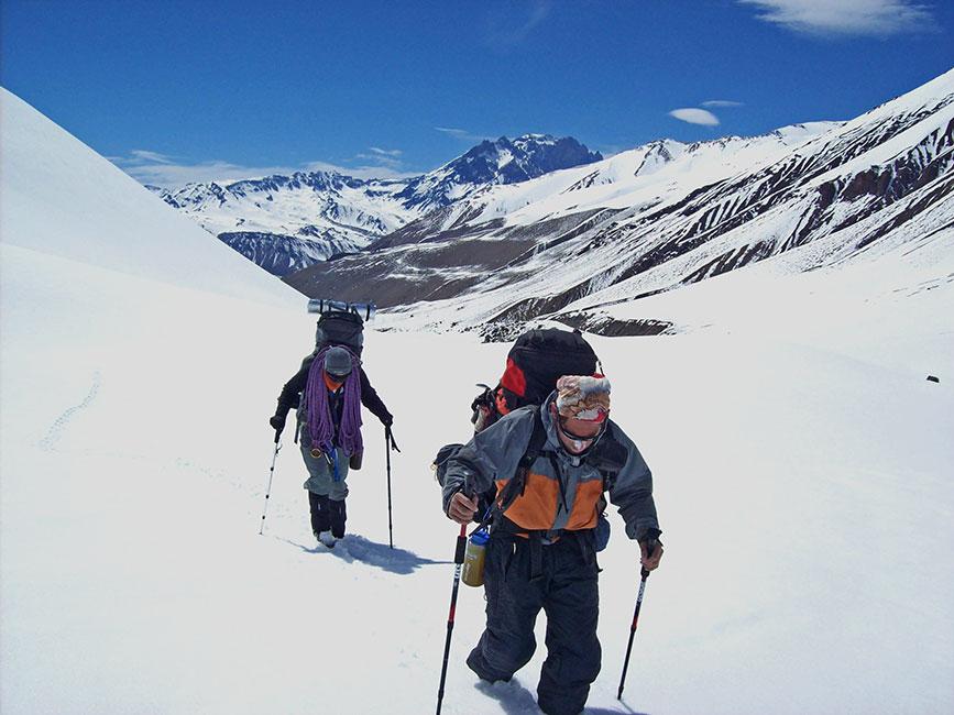 Camino al glaciar