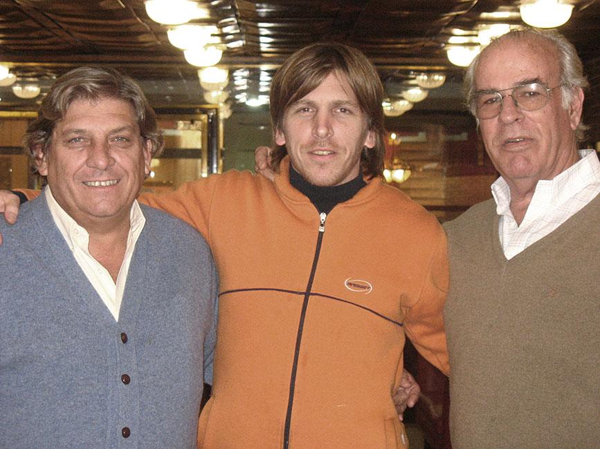 Marcos con Coche Inciarte y Alvaro Mangino